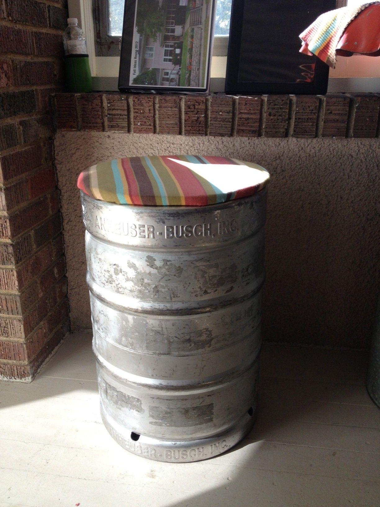 beer keg bar stool | Cerveza | Pinterest