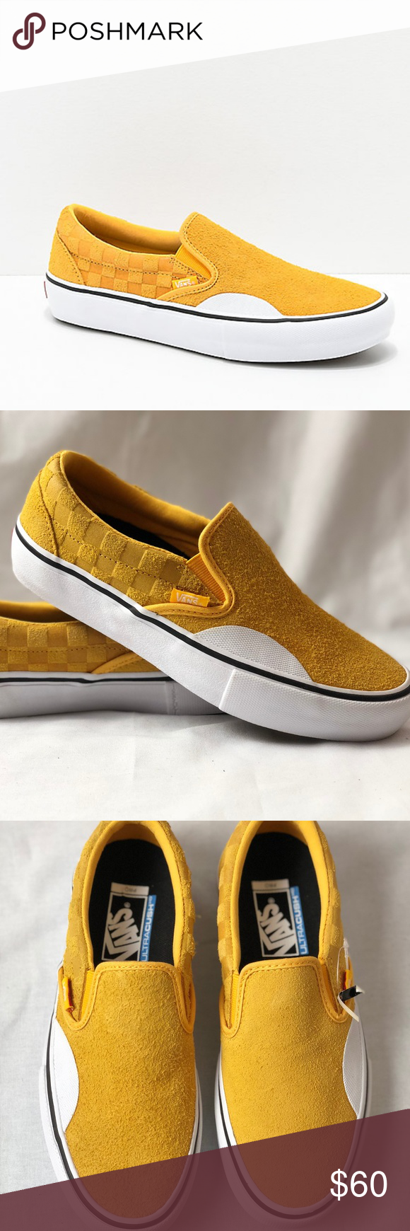 Vans Slip-On Pro Hairy Banana Yellow Checkerboard. Vans Slip-On Pro ...