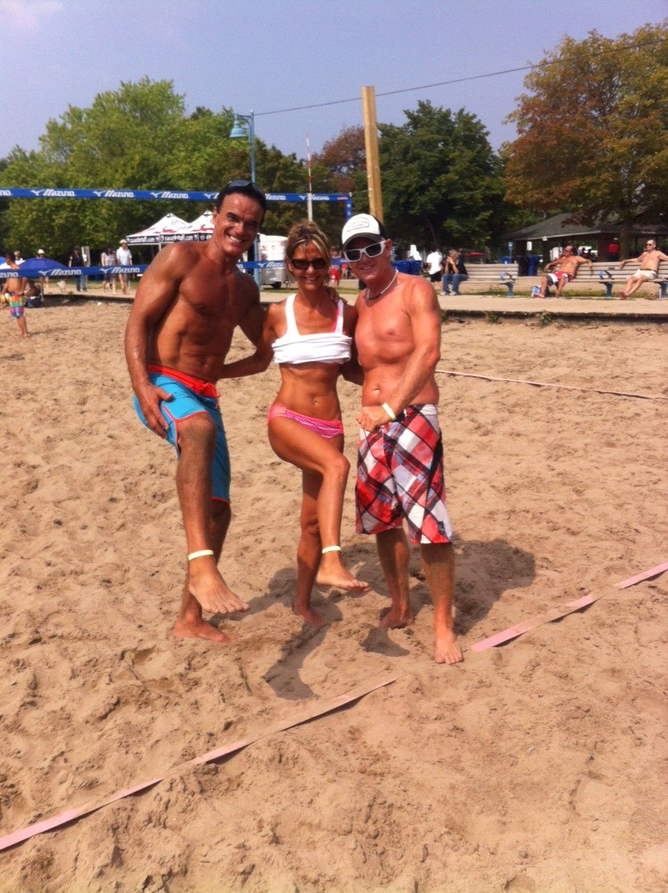 Beach volleyball players loved this! They wore the bracelets around their ankle to avoid getting in the way of wrists