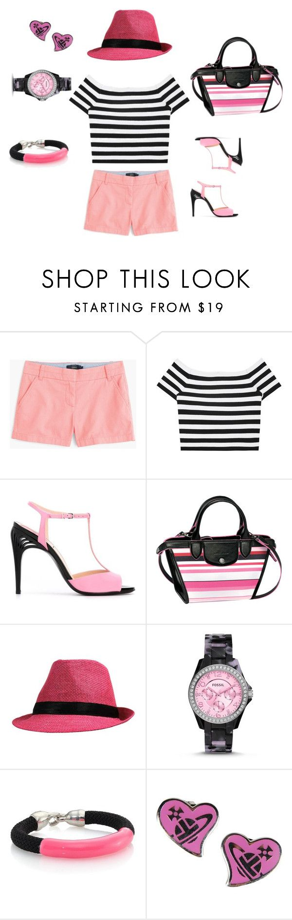 """""""Bez tytułu #119"""" by joannakulis ❤ liked on Polyvore featuring J.Crew, Alice + Olivia, Fendi, Longchamp, FOSSIL, Orly Genger and Vivienne Westwood"""