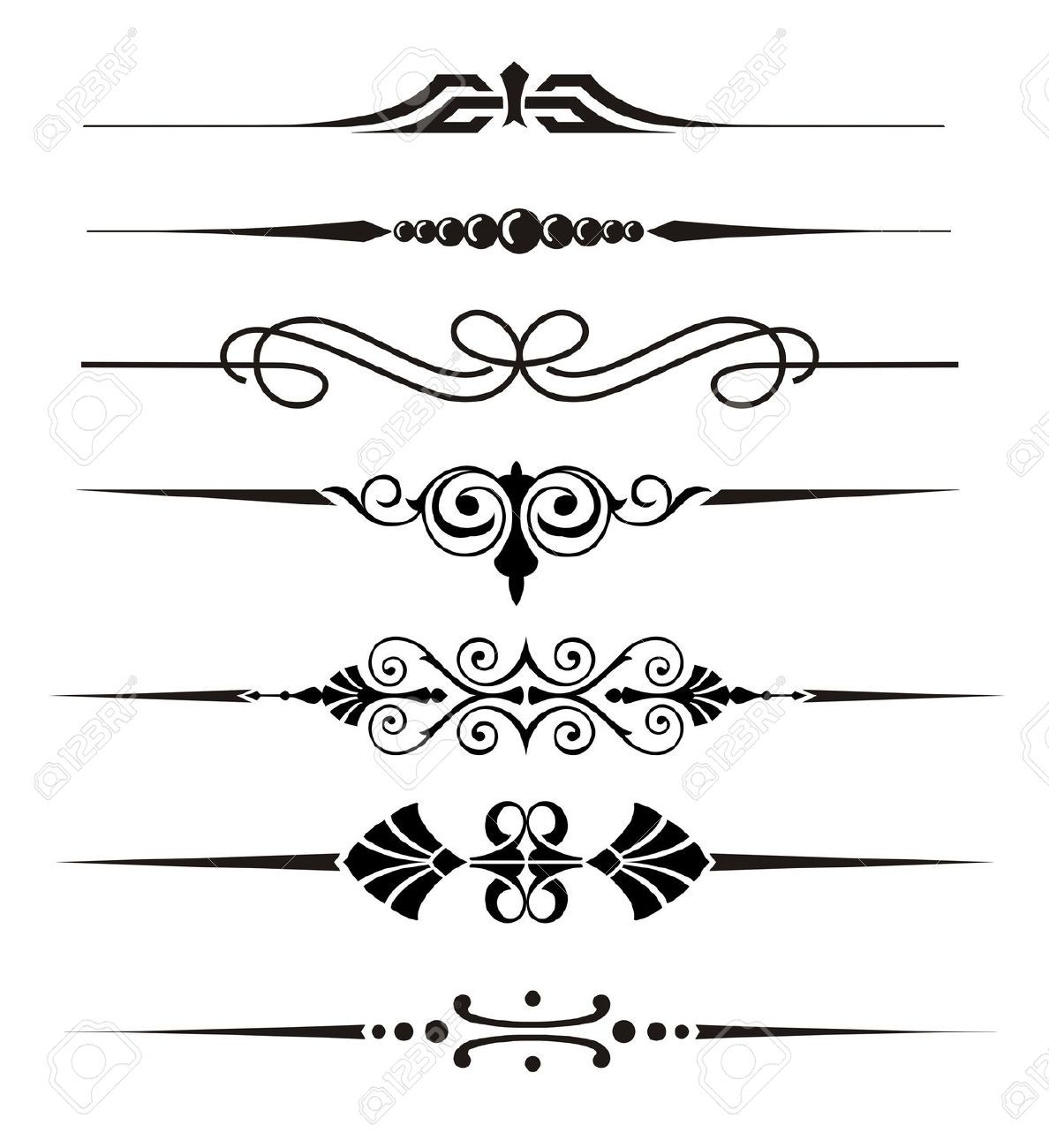 Free Clipart Straight Line : Vecter divider ornaments and graphical elements royalty