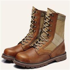 Shoespie Rivet Lace up Flat Boots