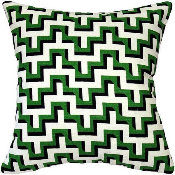 Best Emerald Black Zig Zag Throw Pillow 16X16 From Pillow Decor 400 x 300