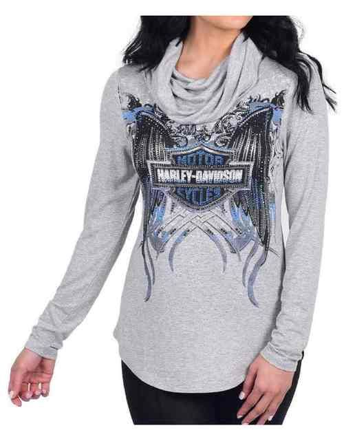 7ce67da07cfd Free shipping - Harley-Davidson Women's Beyond TL Embellished Turtle Neck  Long Sleeve Shirt - Essentials/Shirts & Hoodies/Womens Tops/Casual & Dress  Tops ...