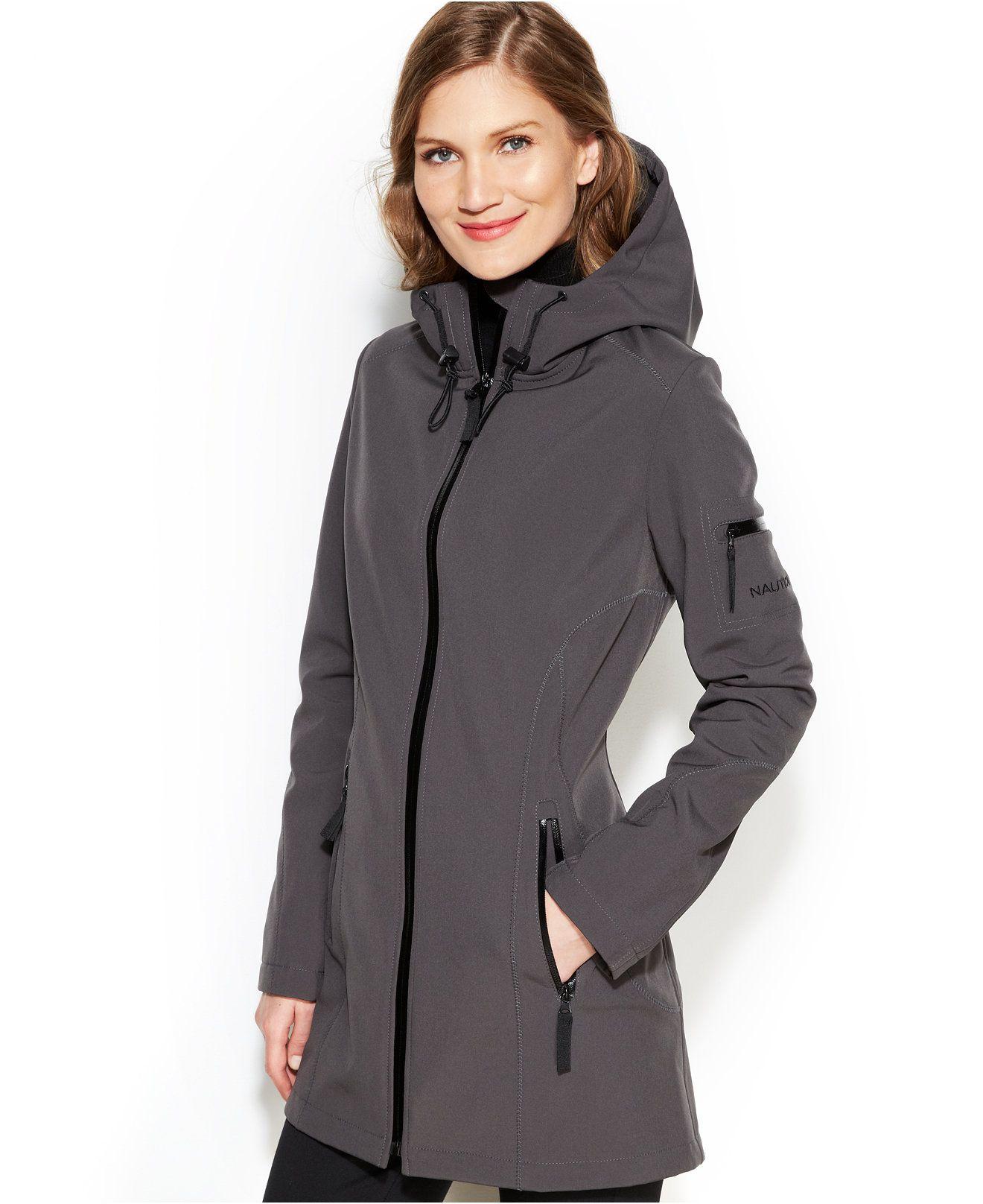 Nautica Hooded Soft Shell Coat Coats Women Macy S Coat Coats For Women Outerwear [ 1616 x 1320 Pixel ]