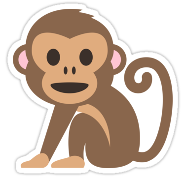 Emoji Happy Monkey Sticker Hewan Stiker