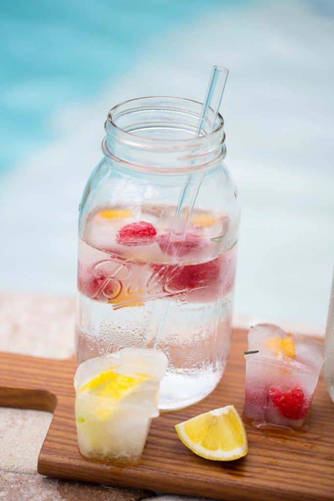 Fruit Infused Ice Cubes
