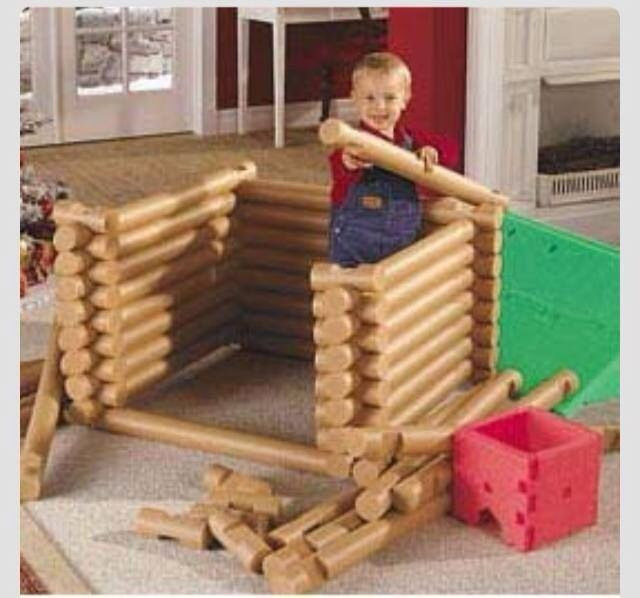 Top Pool noodle Lincoln logs!!! Would make a great toddler