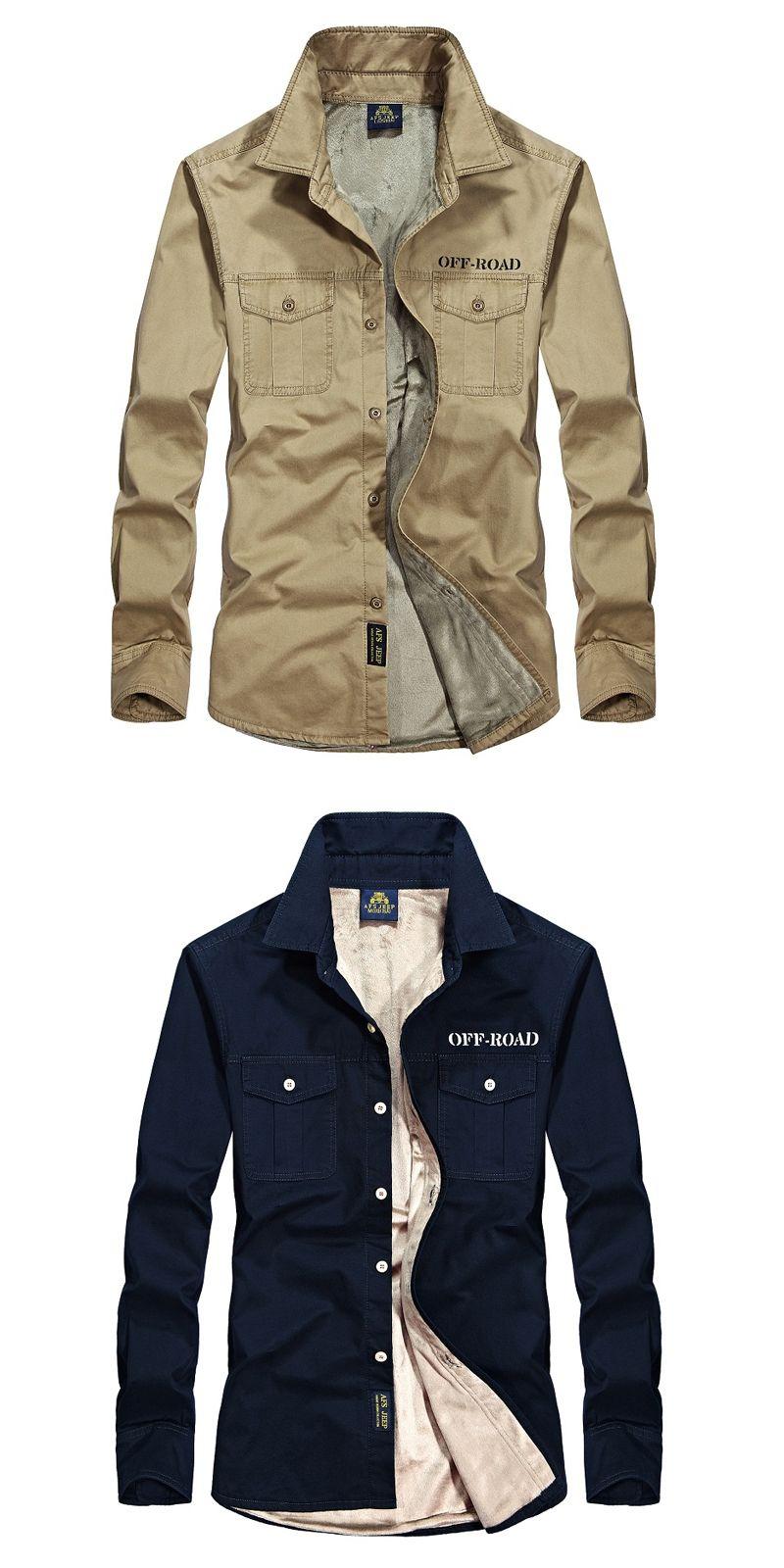 98a158b4e6727 Thicken warm shirt men long sleeve brand fleece shirt casual cotton chemise  homme business mens shirt