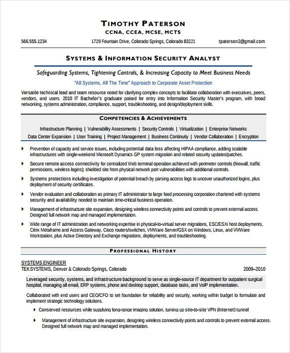 information systems security analyst resume information security analyst resume do you want to be