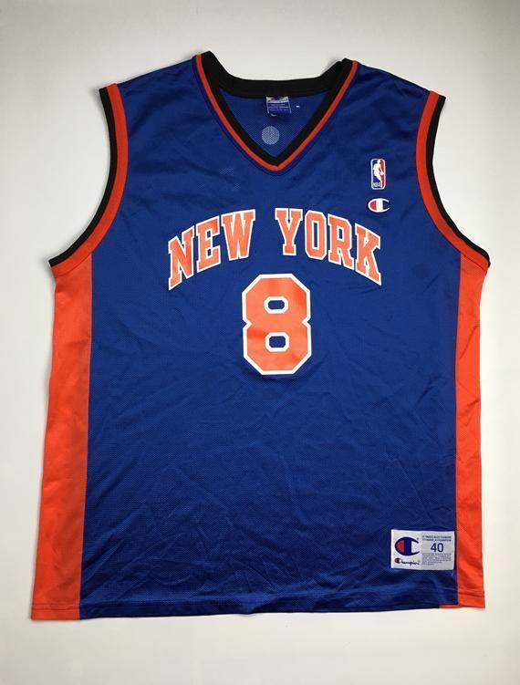 1990s Vintage New York Nicks Champion Basketball Jersey