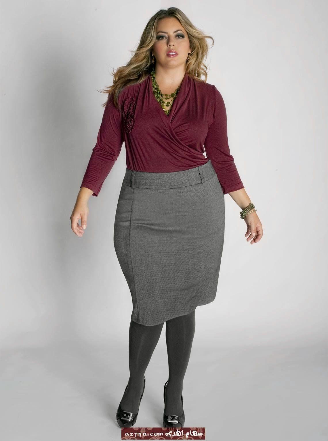 مجلة جمال حواء تنانير قصيرة للسمينات Fashion Pencil Skirt Skirts