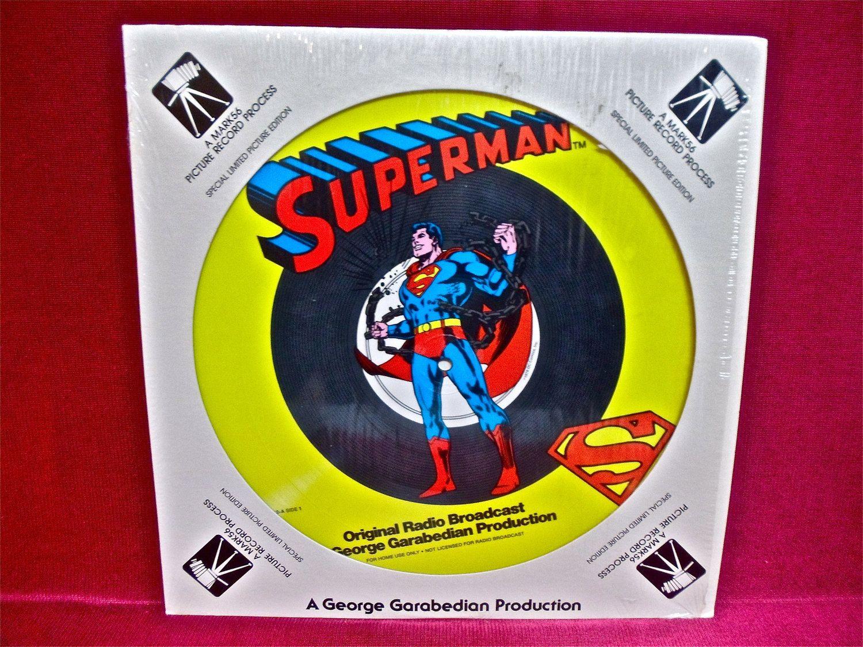 SUPERMAN  - Original Radio Broadcast - 1978 Vintage Vinyl Record Album...COLORED Disc. $39.00, via Etsy.