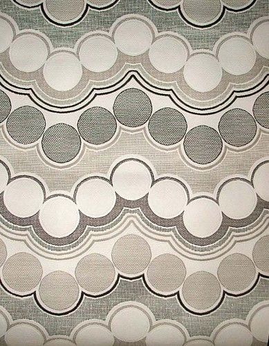 Vintage wallpaper original 1970's geometric circle design