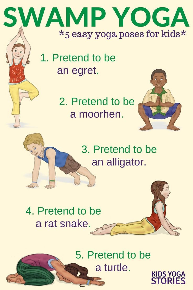 For Another Interesting Kids Yoga Class Idea Why Not Learn About Swamp Flora And Fauna Through These Five Animals Poses