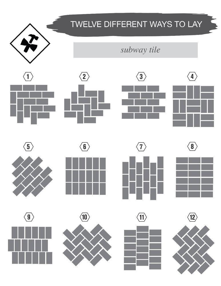 12 Different Ways To Lay Subway Tile Subway Tile Design Subway