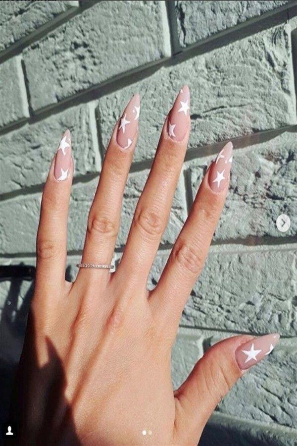 30 Stylish Nail Design Inspirations In 2020 Star Nail Art Cute Christmas Nails Star Nails