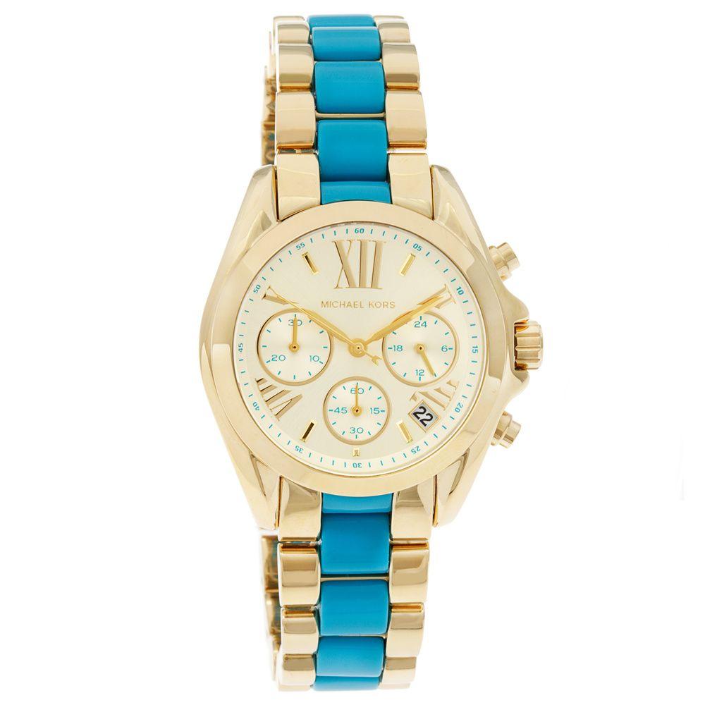 3906f76c32dc2 Michael Kors Women s MK5908  Bradshaw  Mini Chronograph Two-tone Watch