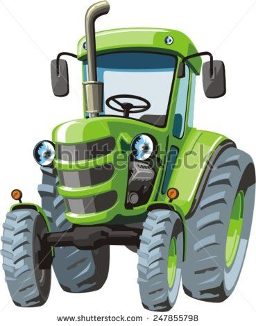 John Deere Cartoon : deere, cartoon, Cartoon, Tractor, Stock, Photos,, Images,, Pictures, Tractors,, Pictures,, Clipart