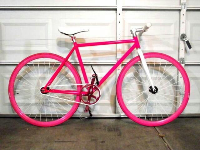 I Love Bike I Love Pink Pink Fixie With Images Pink Bicycle