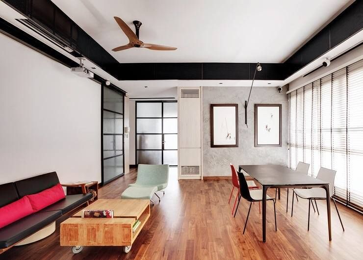 How To Turn Your Hdb Flat Into A Loft Style Apartment No Special Approval Needed Minimalist Living Room Design Loft Style Homes Minimalist Living Room