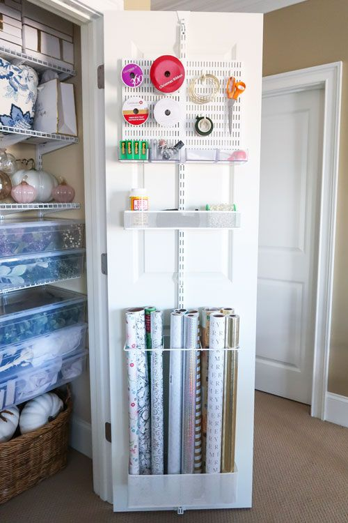 Create a Home Decor Closet and Gift Wrap Station of Your Dreams! #storagesolutions