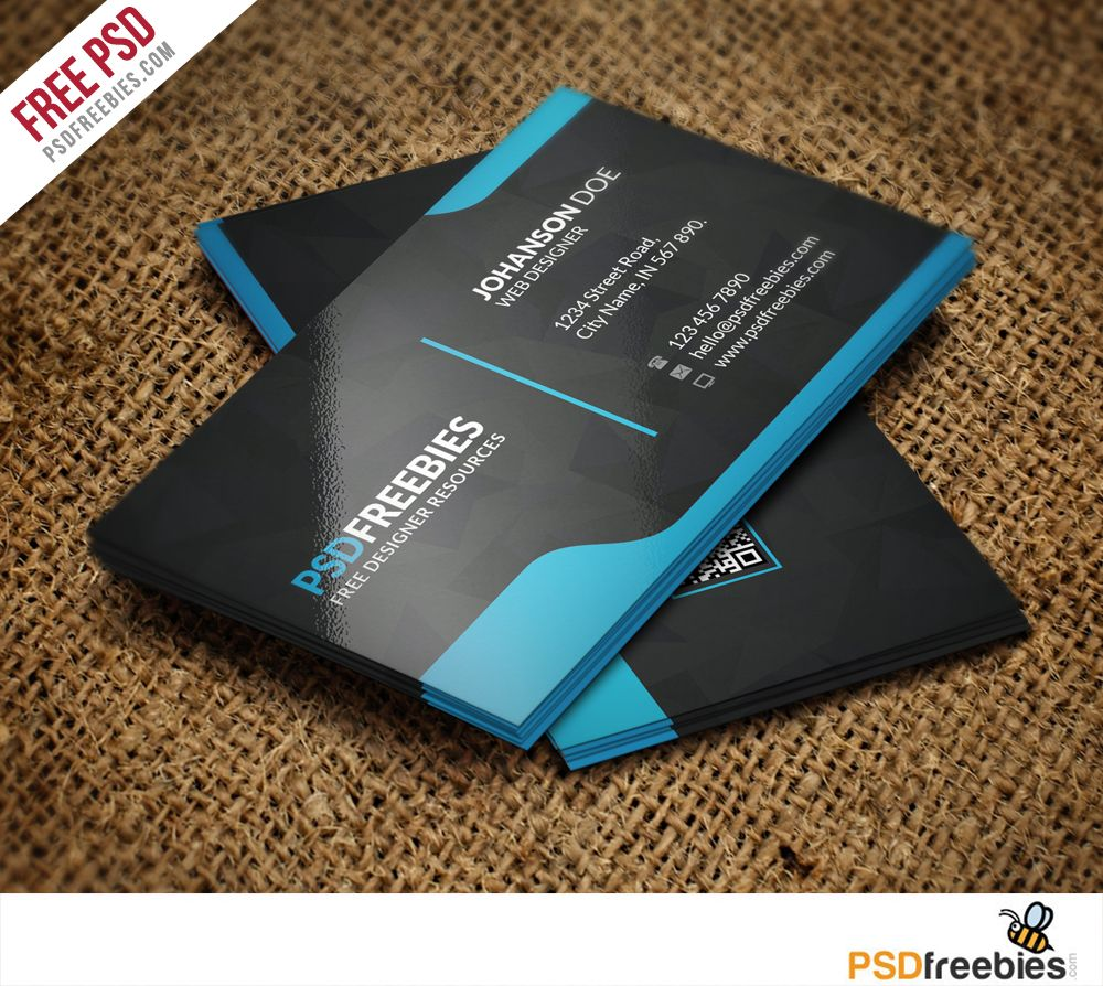 Graphic Designer Business Card Template Free PSD | Card templates ...