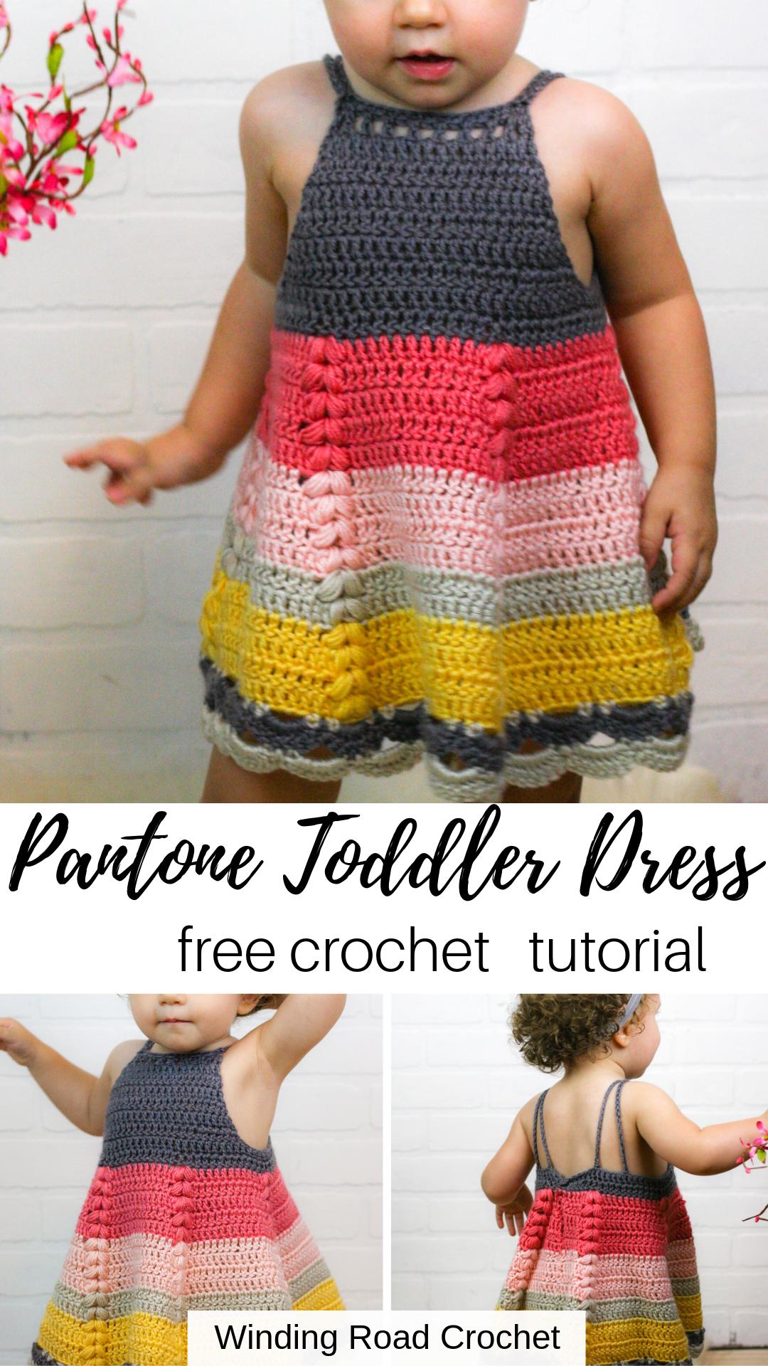 How to Crochet Toddler Dress Free Pattern - Winding Road Crochet