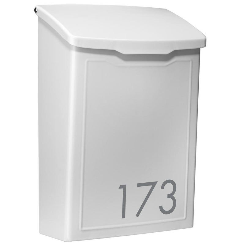 Modern Contemporary Mailbox Personalized Wall Mount Letterbox Customized Wall Mount Mailbox White Metal Letter Box In 2020 Wall Mount Mailbox Modern Mailbox Mounted Mailbox
