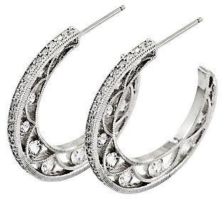 Tacori Iv Diamonique Epiphany 2 05 Cttw Hoop Earrings