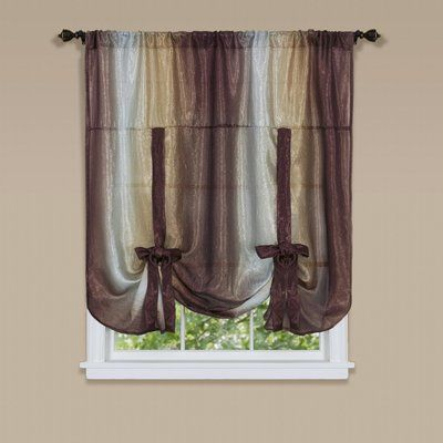 Fleur De Lis Living Aldreda Window Tie Up Shade Color Chocolate Tie Up Shades Burgundy Curtains Shades Blinds