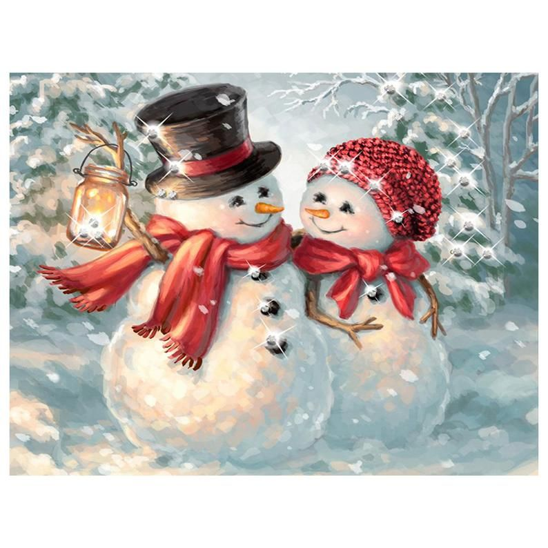 5D DIY Diamond Painting Full Round/Square Drill Cartoon snowman 3D Embroidery Cross Stitch gift Home