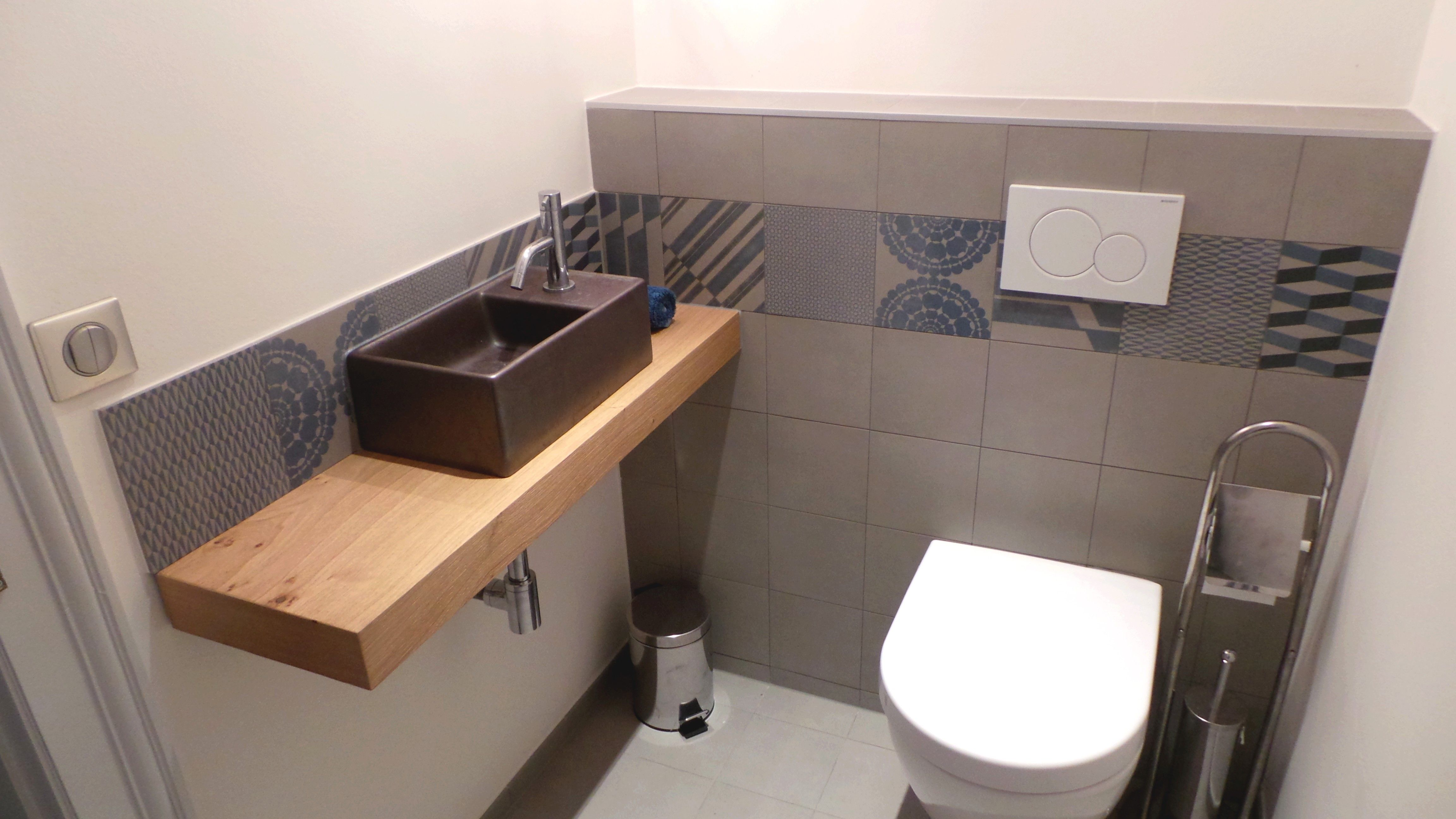 Wc avec carrelage de patricia urquiola salle de bain wc