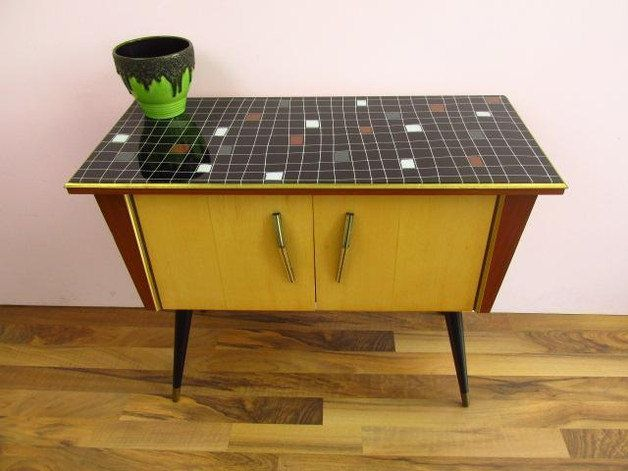 Vintage chest of drawers, cabinet,   unique   50s   Germany   Mid ...