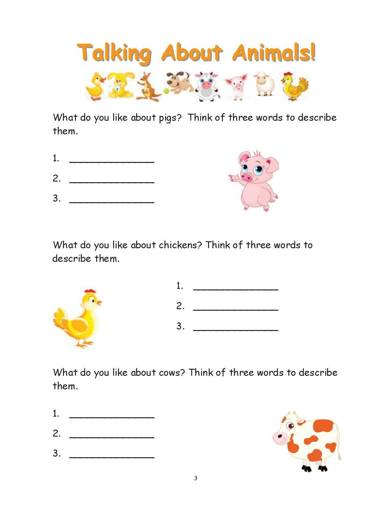 This Worksheet Encourages Students To Describe Three