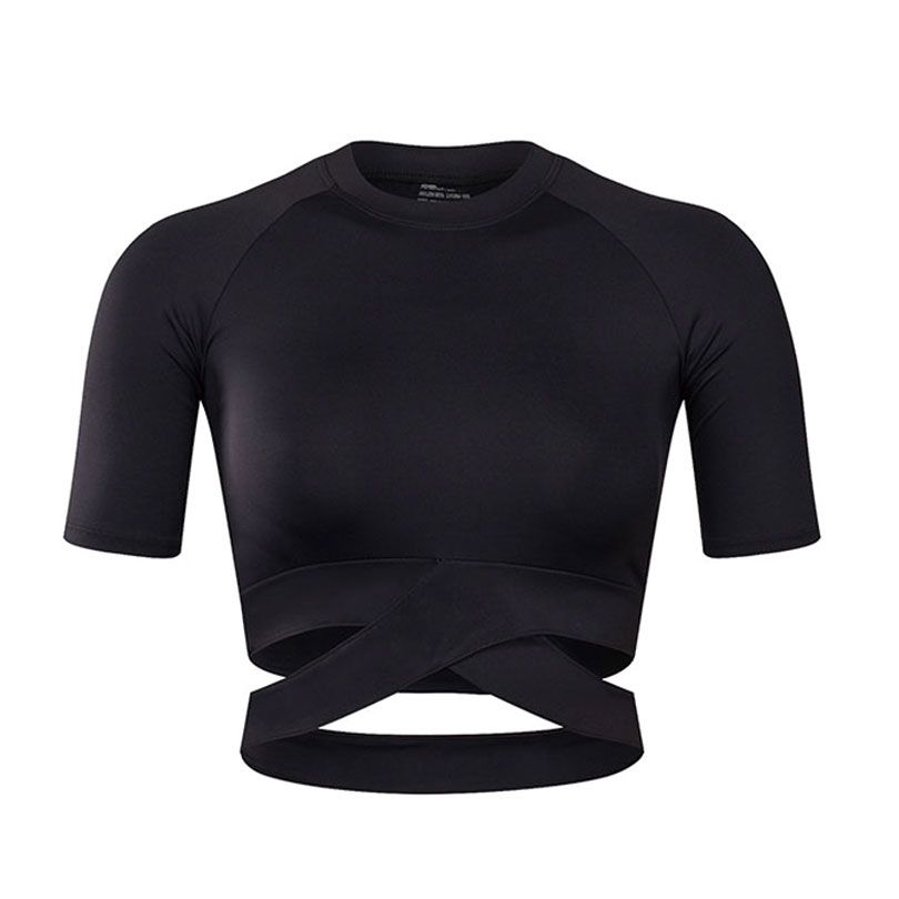 7ac6fff66c873 Women Yoga Shirts Sexy Sports Top Style Fitness Crop Top Solid Running  Shirt Sport Gym Clothes