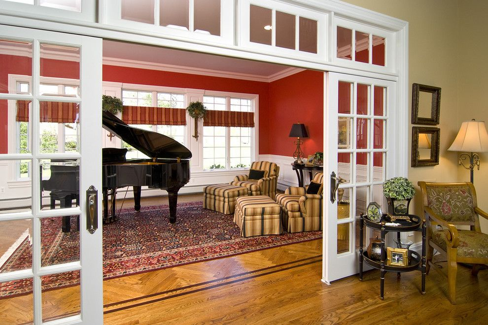 Interior Sliding French Doors Living Room Traditional With Architectural  Details Area Rug