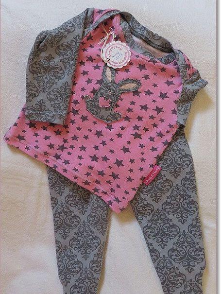 2 Pcs Baby Girl Clothes Set Size 3 6m Longsleeve Baby Shirt Footed Baby Legging Baby Girl Giftset Babykleding Meisjes En Grijze Broek