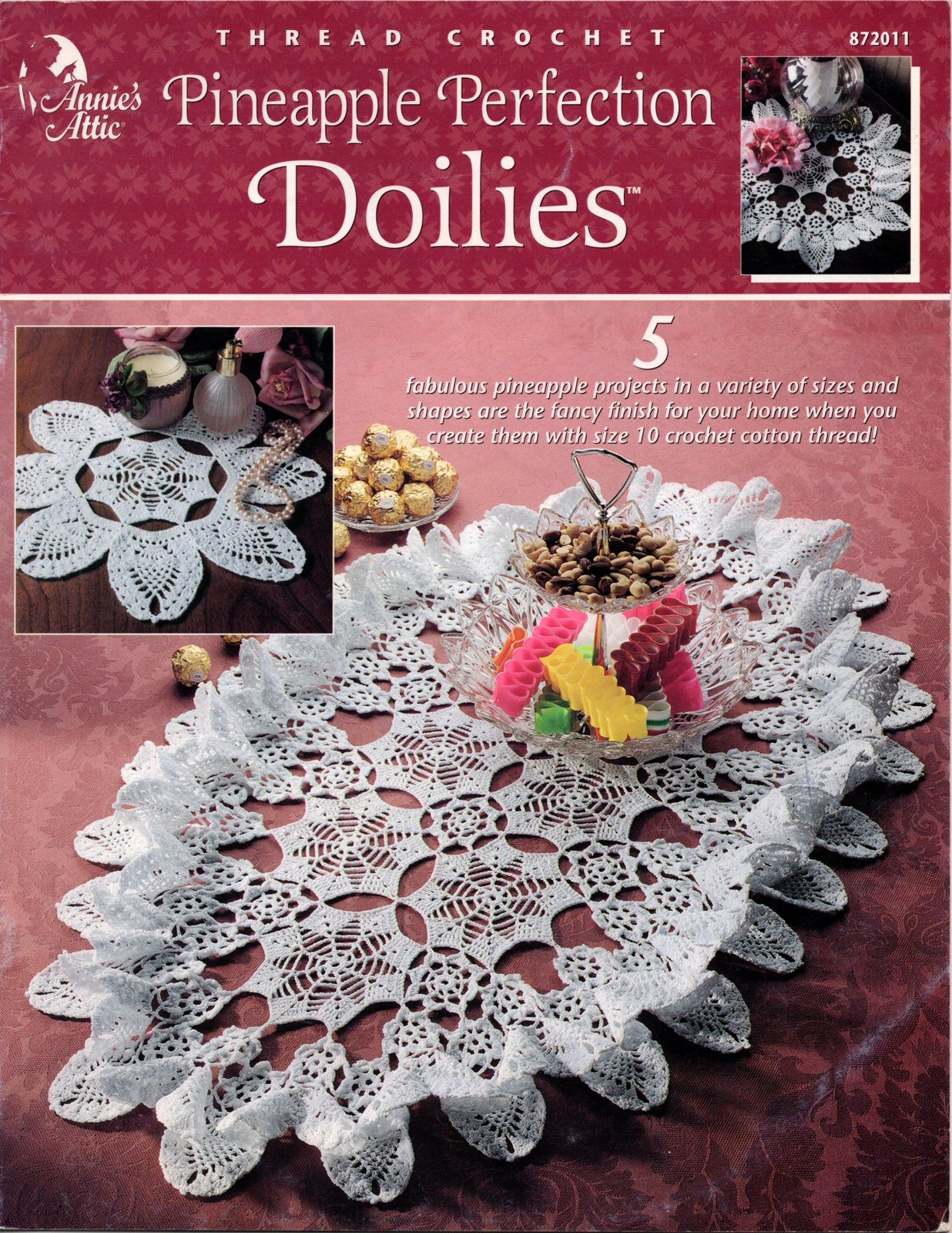 Pineapple Perfection Doilies Thread Crochet Pattern Book - Annie\'s ...