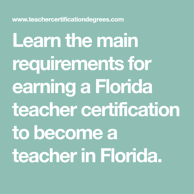 teacher florida earning become certification delhi jobs teaching requirements learn