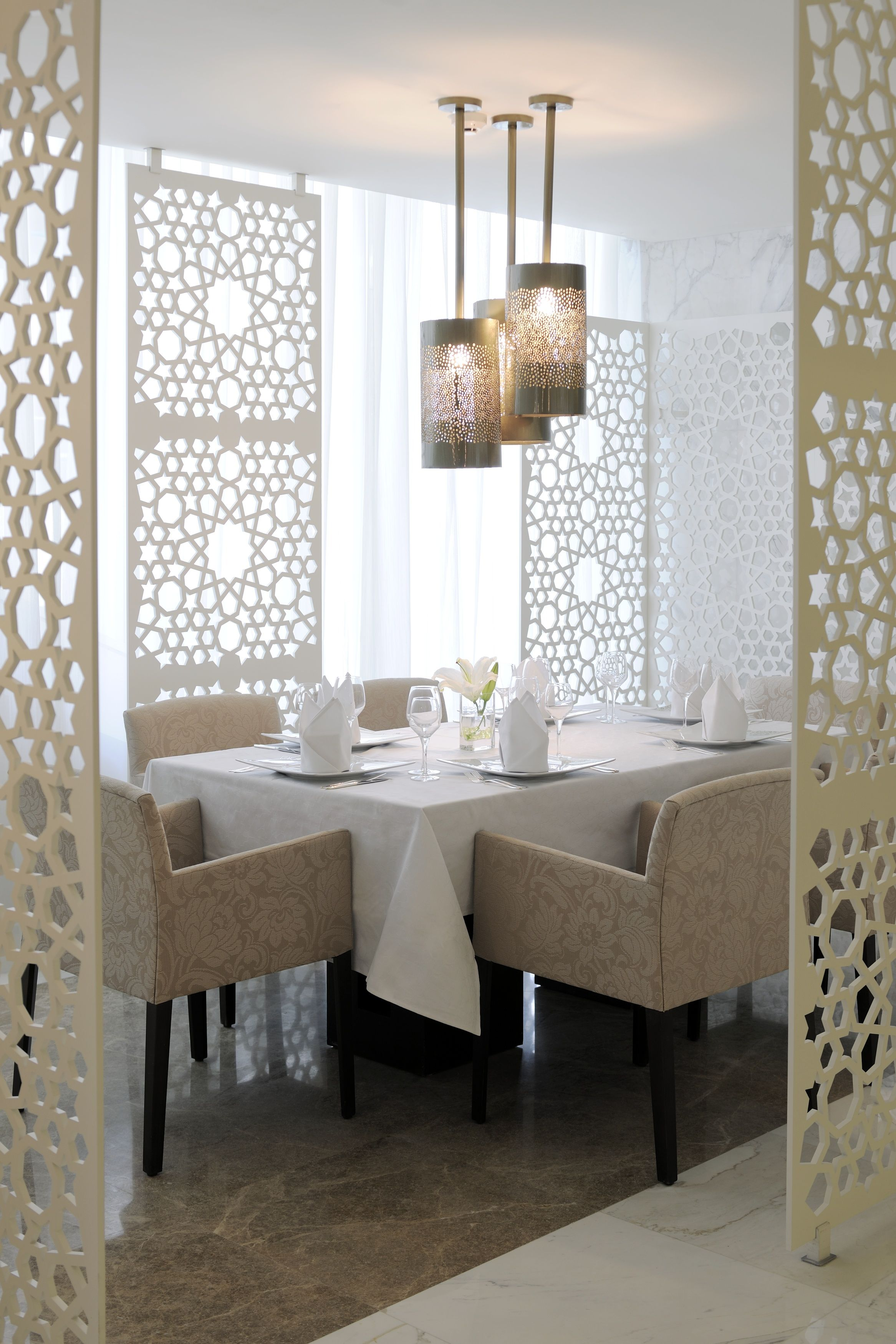 Arabic Restaurant Serving Arabic Gulf Food Concept And Design By Dlg Dining Room Decor Modern Indian Interior Design Modern Interior