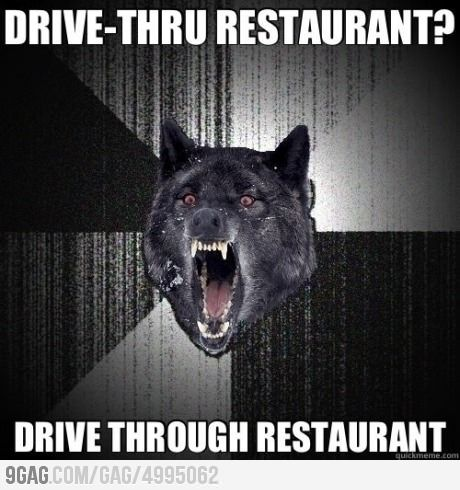 Insanity Wolf eats out