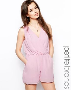 Wrap Front Playsuit-Petite- what a LOVELY color