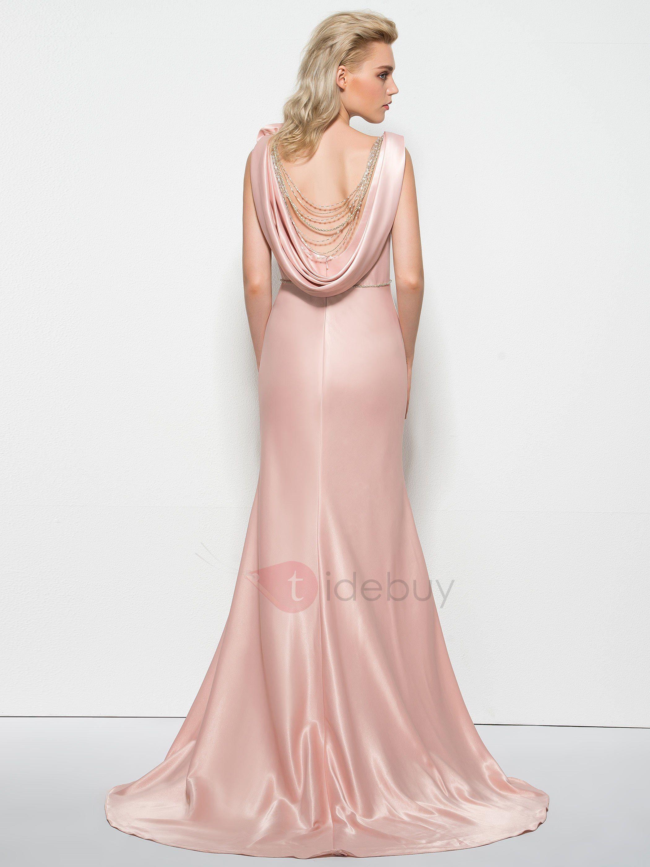 Vestido de noche de la envoltura elegante de la flor de las correas ...