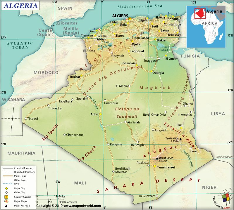 What are the Key Facts of Algeria? Facts, Geography, Map