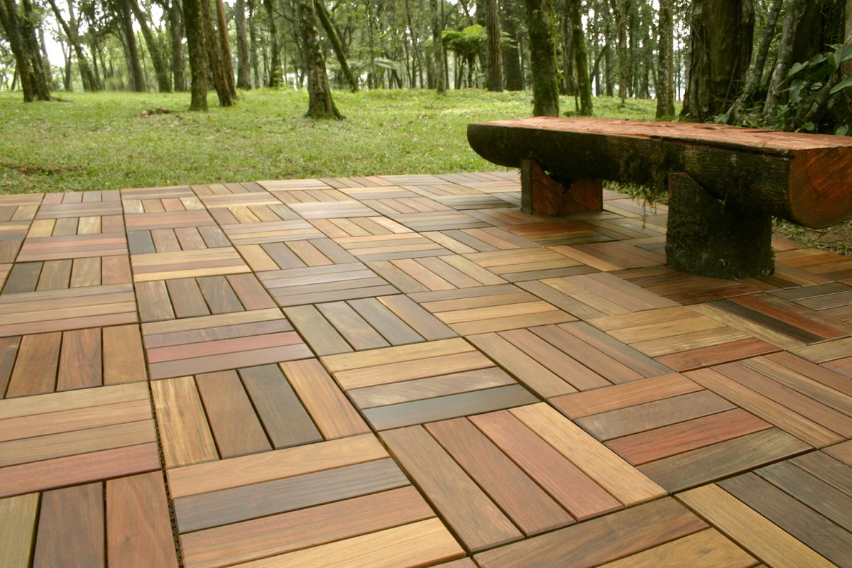 Deck Tiles Lications Brazilian Wood