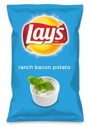 Wouldn't ranch bacon potato be yummy as a chip? Lay's Do Us A Flavor is back, and the search is on for the yummiest flavor idea. Create a flavor, choose a chip and you could win $1 million! https://www.dousaflavor.com See Rules.