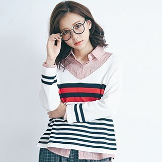 Buy 'BAIMOMO – Striped Knit Top' with Free International Shipping at YesStyle.com. Browse and shop for thousands of Asian fashion items from Taiwan and more!