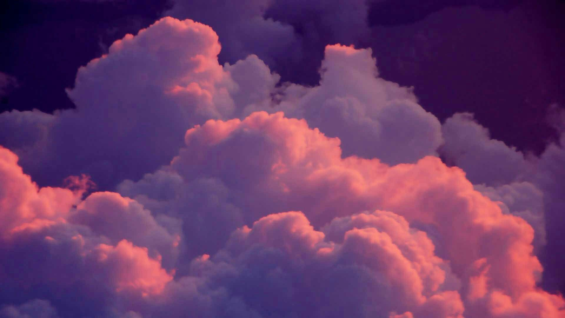 Pin By Laura Matthews On Clouds Pink Clouds Wallpaper Aesthetic Desktop Wallpaper Aesthetic Wallpapers