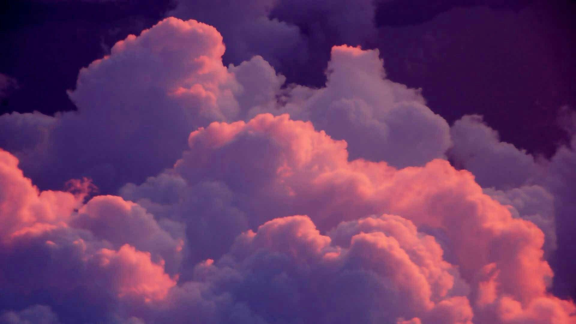 Pin By Laura Matthews On Clouds Pink Clouds Wallpaper Aesthetic Desktop Wallpaper Cloud Wallpaper